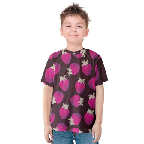 Strawverry Kids  Cotton Tee by Brittlevirginclothing