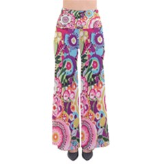 Colorful Flower Pattern Pants by Brittlevirginclothing