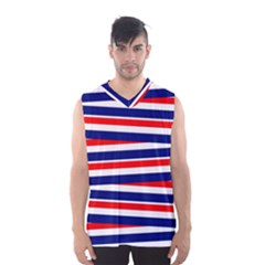 Red White Blue Patriotic Ribbons Men s Basketball Tank Top by Nexatart