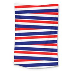 Red White Blue Patriotic Ribbons Large Tapestry by Nexatart