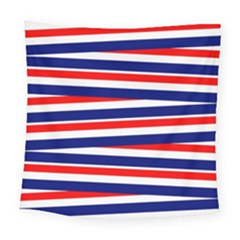 Red White Blue Patriotic Ribbons Square Tapestry (large) by Nexatart