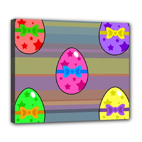 Holidays Occasions Easter Eggs Deluxe Canvas 24  X 20   by Nexatart