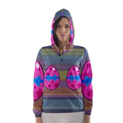 Holidays Occasions Easter Eggs Hooded Wind Breaker (women)