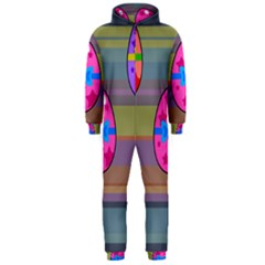 Holidays Occasions Easter Eggs Hooded Jumpsuit (men)