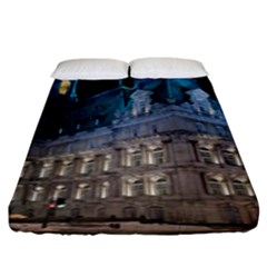 Montreal Quebec Canada Building Fitted Sheet (king Size) by Nexatart