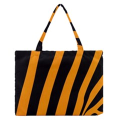 Tiger Pattern Medium Zipper Tote Bag by Nexatart