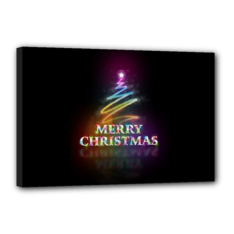 Merry Christmas Abstract Canvas 18  X 12  by Nexatart