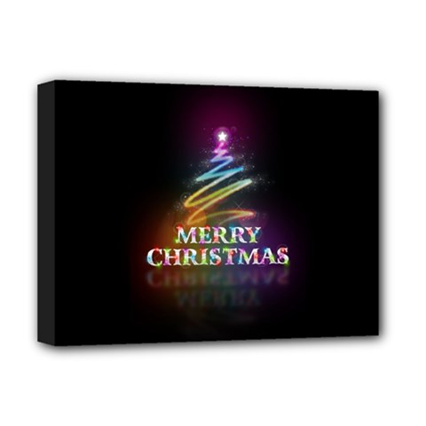 Merry Christmas Abstract Deluxe Canvas 16  X 12   by Nexatart