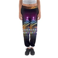 Merry Christmas Abstract Women s Jogger Sweatpants by Nexatart