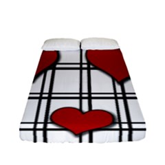 Hearts Pattern Fitted Sheet (full/ Double Size)