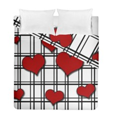 Hearts Pattern Duvet Cover Double Side (full/ Double Size) by Valentinaart