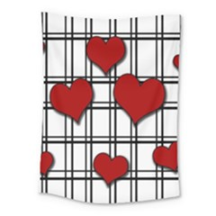 Hearts Pattern Medium Tapestry by Valentinaart