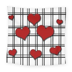 Hearts Pattern Square Tapestry (large) by Valentinaart