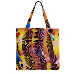Ethnic Tribal Pattern Zipper Grocery Tote Bag by Nexatart