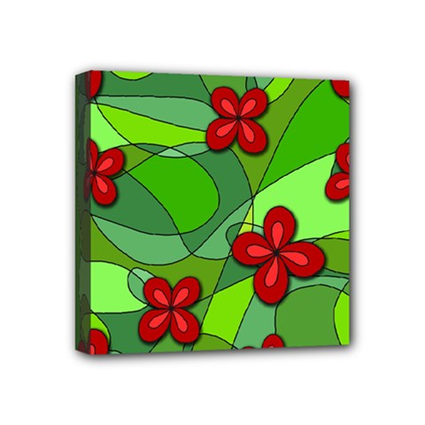 Flowers Mini Canvas 4  X 4  by Valentinaart