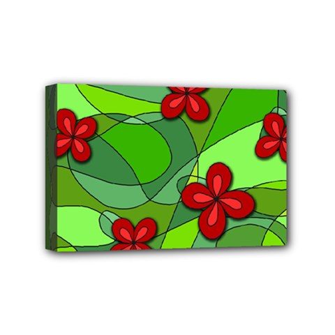 Flowers Mini Canvas 6  X 4  by Valentinaart
