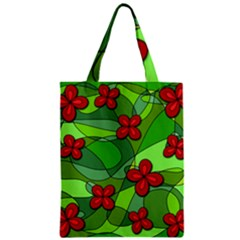 Flowers Zipper Classic Tote Bag by Valentinaart