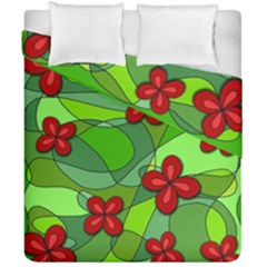 Flowers Duvet Cover Double Side (california King Size) by Valentinaart