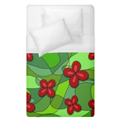 Flowers Duvet Cover (single Size) by Valentinaart