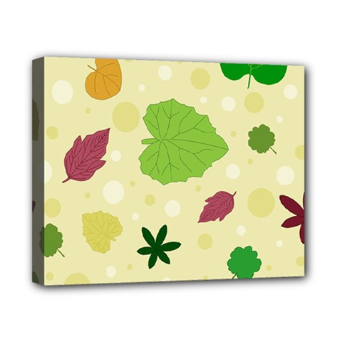 Leaves Pattern Canvas 10  X 8  by Nexatart