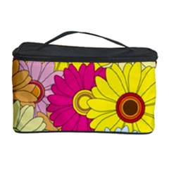 Floral Background Cosmetic Storage Case by Nexatart