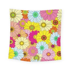 Floral Background Square Tapestry (small) by Nexatart