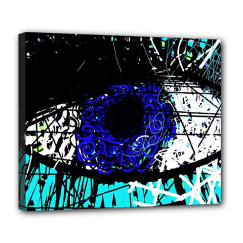 Blue Eye Deluxe Canvas 24  X 20   by Valentinaart