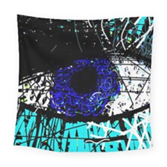 Blue Eye Square Tapestry (large)