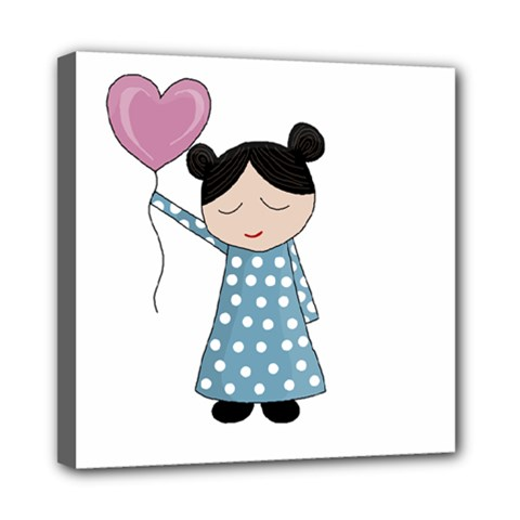 Valentines Day Girl Mini Canvas 8  X 8  by Valentinaart