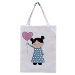 Valentines Day Girl Classic Tote Bag by Valentinaart