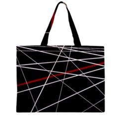 Lines Zipper Mini Tote Bag by Valentinaart