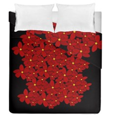 Red Bouquet  Duvet Cover Double Side (queen Size) by Valentinaart