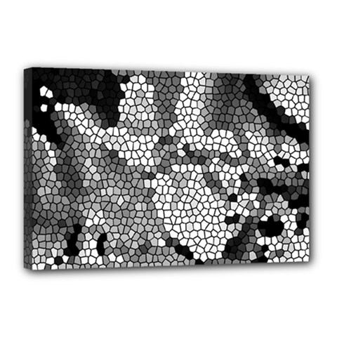 Mosaic Stones Glass Pattern Canvas 18  X 12  by Nexatart