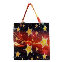 Holiday Space Grocery Tote Bag by Nexatart