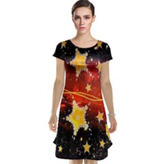 Holiday Space Cap Sleeve Nightdress by Nexatart