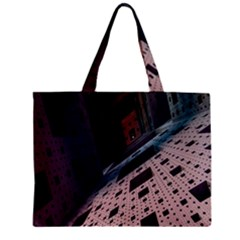 Industry Fractals Geometry Graphic Zipper Mini Tote Bag