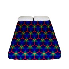 Honeycomb Fractal Art Fitted Sheet (full/ Double Size)