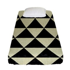 Triangle3 Black Marble & Beige Linen Fitted Sheet (single Size)