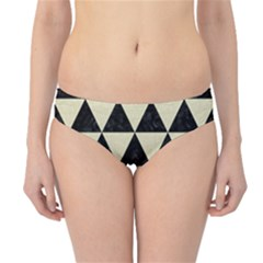 Triangle3 Black Marble & Beige Linen Hipster Bikini Bottoms by trendistuff