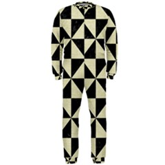 Triangle1 Black Marble & Beige Linen Onepiece Jumpsuit (men) by trendistuff
