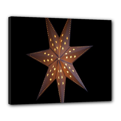 Star Light Decoration Atmosphere Canvas 20  X 16  by Nexatart