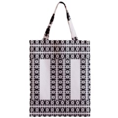 Pattern Background Texture Black Zipper Classic Tote Bag