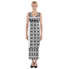 Pattern Background Texture Black Fitted Maxi Dress by Nexatart