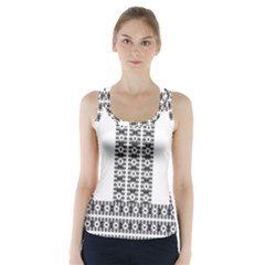 Pattern Background Texture Black Racer Back Sports Top by Nexatart