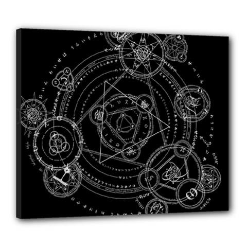 Formal Magic Circle Canvas 24  X 20  by Nexatart