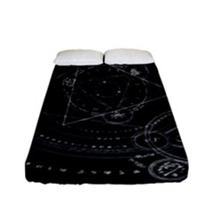 Formal Magic Circle Fitted Sheet (full/ Double Size) by Nexatart