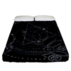 Formal Magic Circle Fitted Sheet (queen Size) by Nexatart