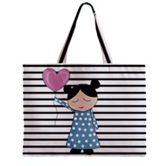 Valentines Day Design Zipper Mini Tote Bag