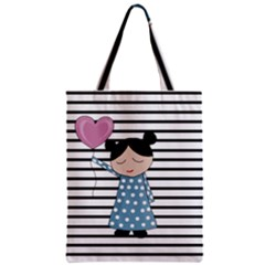 Valentines Day Design Zipper Classic Tote Bag by Valentinaart