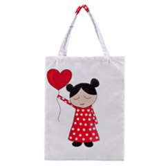 Girl In Love Classic Tote Bag by Valentinaart